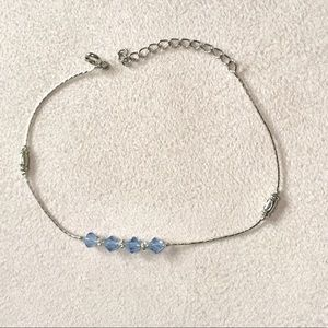 Jewelry - Silver & Blue Anklet with Bonus Anklet